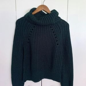 Kendall & Kylie Chunky Knit Cowlneck Sweater XS